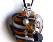 bumblebee heart glass pendant set New Year Blowout