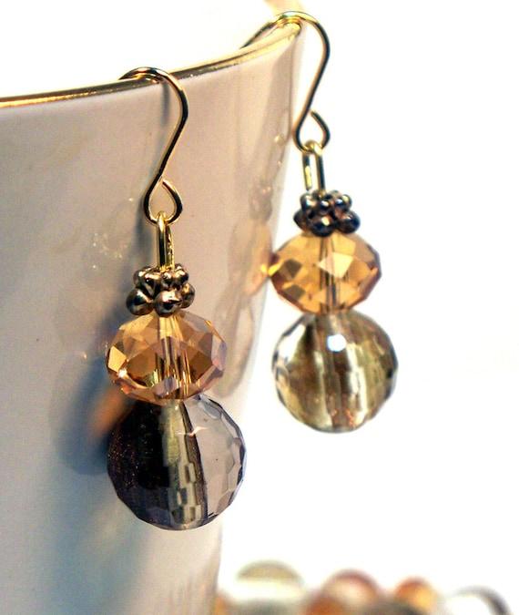 Amber Quartz Earrings