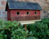 Primitive Folk Art Saltbox Birdhouse