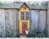 Primitive Country Farmhouse Rustic  Folk Art Birdhouse
