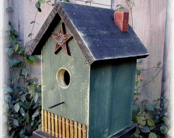 Primitive Folk Art Hanging Birdhouse
