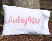 Pink Paisley Custom Monogram Pillowcase - JULIANNE ORIGINALS