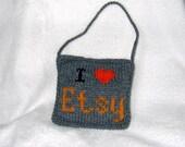 I Heart Etsy - Door Knob Pillow