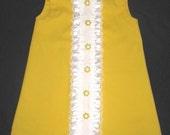 Retro 1960's inspired sleeveless MIni ..with ruffles-children clothing-girls