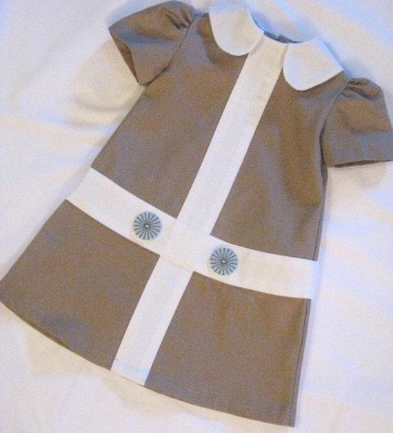Retro Camel Lauren Dress......