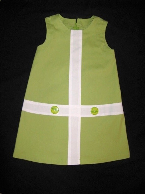 1960's Inspired Retro lime green and white mini