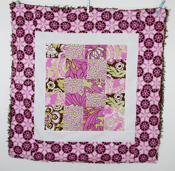 Plush Curl Minky Patchwork Baby Blanket