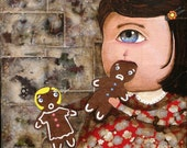 Original Painting Mr. and Mrs. Gingerbread were cordially invited to Kathie the Cyclops for Christmas dinner.