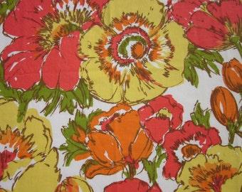 Vintage Sheet Fat Quarter Big Flowers