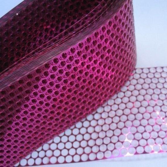 2 Yards Dark Pink Shiny Metallic Punchinella Scrim