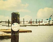 Marina Sign Photography Print, Kids Don't Float Dock Sign, Vintage Wall Decor, Boat Dock, Harbor, Nautical Decor, Blue and Brown