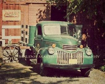 Vintage Truck Photograph - country farm photo - vintage home decor