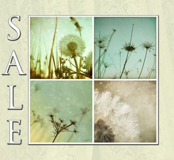 SALE - Field Of Dreams Collection - Four 5x5 Fine Art Photography Prints