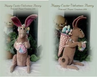 Primitive Folk ARt Easter Bunny Rabbit - Mailed Pattern