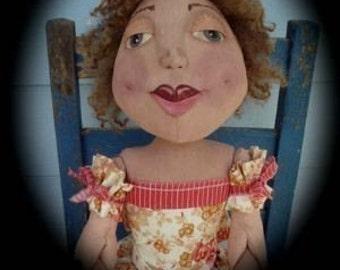 "Large 36"" Primitive Folk Art Doll  - Samantha Jo ePattern"
