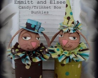 Emmitt and Elsee Bunny Candy/Trinket Box ePattern