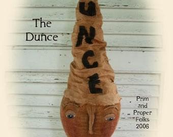Primitive Folk Art Whimsical Boy Doll  - The Dunce Doll - Epattern