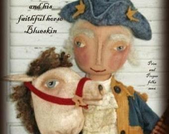 Primitive Folk Art George Washington and Blueskin Doll - Mailed Pattern