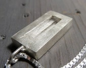 Ice queen necklace - Raw quartz and sterling silver
