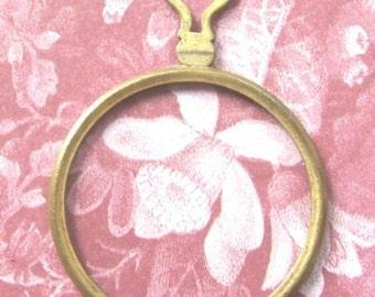 BRASS HEART Optical Lens Antique German 1800's Victorian Era Berlin Germany Monocle Diy Steampunk Pendant Jewelry