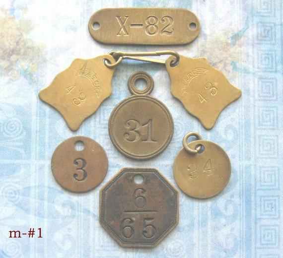 Vintage Brass Tags 92