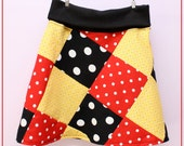 7-10 Girls Maddie Simply Sweet Minnie MIckey Patchwork Skirt Free Shipping