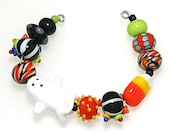 LeahBeads - Halloween Trick or Treat Bag - Lampwork Beads