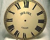 Vintage Large Bulova Clock Face - Listed until Dec.20,2010