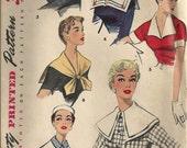 Vintage 1950s Simplicity 1030 Collar Cuffs Capelet Pattern