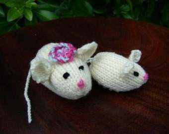 Mice to See You, Mom and Baby White Mice, mouse, toy, collectible, REDUCED FROM 30