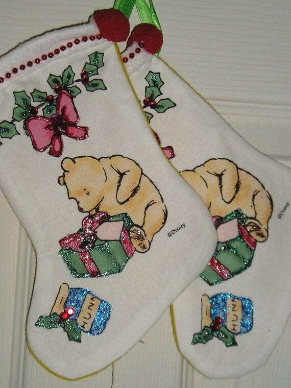 Winnie the Pooh and Christmas Gifts too   MINI  WINNIE STOCKINGS