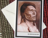 Chief Mo-See-Ma-Ma-Mos Greeting Card