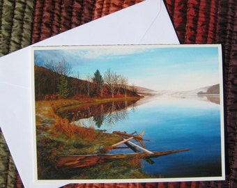The Inlet At Quaker Lake (Allegheny State Park), Blank Greeting Card