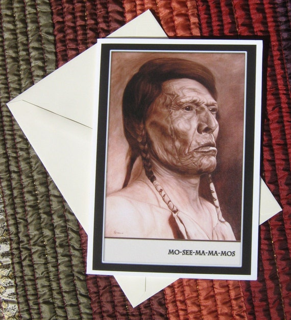 Chief Mo-See-Ma-Ma-Mos Blank Greeting Card