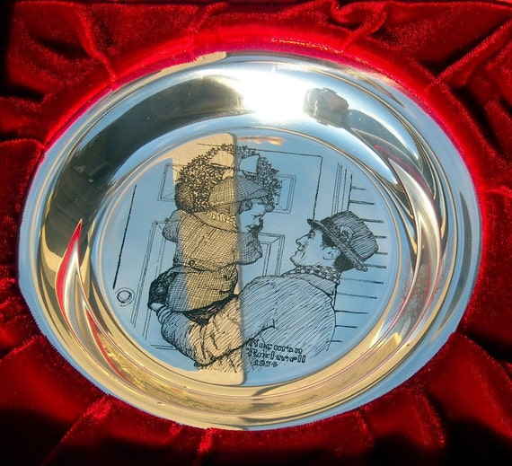 1974 Franklin Mint Christmas Plate Solid Sterling Silver