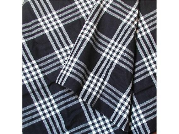 Pendleton Wool Fabric Black and White Plaid
