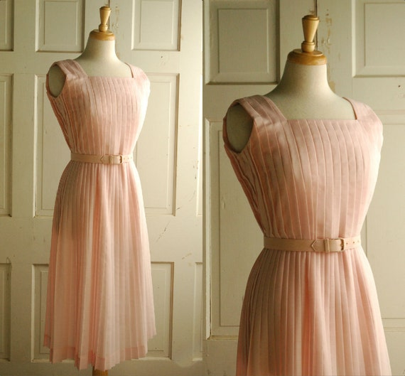 SALE 1960s Summer Dress / Vintage Pastel Day Dress