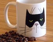 Good Morning Boo Cat Coffee Mug