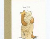 Greeting Card with Original Illustration - Bear Hug