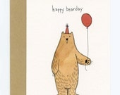 Greeting Card with Original Illustration - Happy Bearday