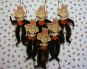 Vintage Style Feather Tree Ornaments Scarecrow