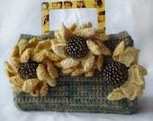 Crochet Pattern - Women's Purse with Coneflower