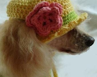 Crochet Pattern - dog shirt crochet pattern, crochet dog shirt, crochet dog hat