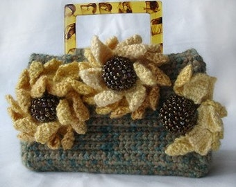 Crochet Pattern - Coneflower Purse