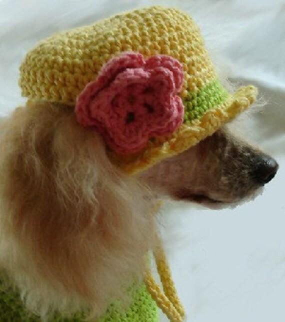 Crochet Hat Patterns For Dogs Free : Crochet Pattern dog shirt crochet pattern crochet dog