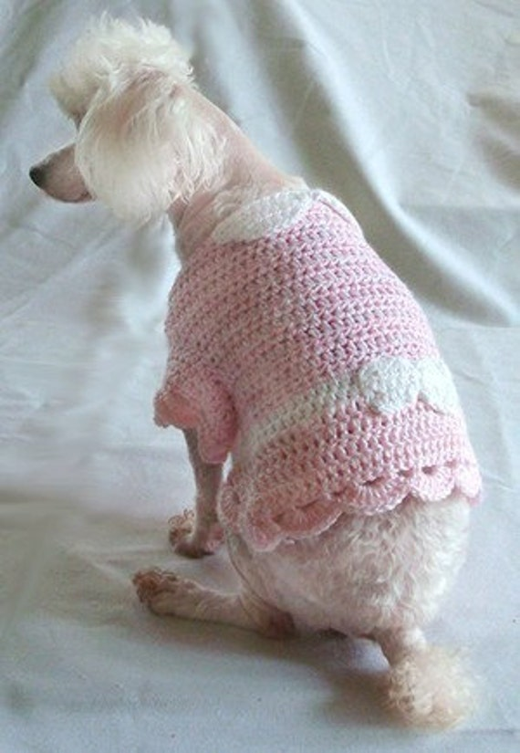 Crochet Xl Dog Sweater : Crochet Pattern Dog Sweater Dress Shirt by OnceUponAPoodle