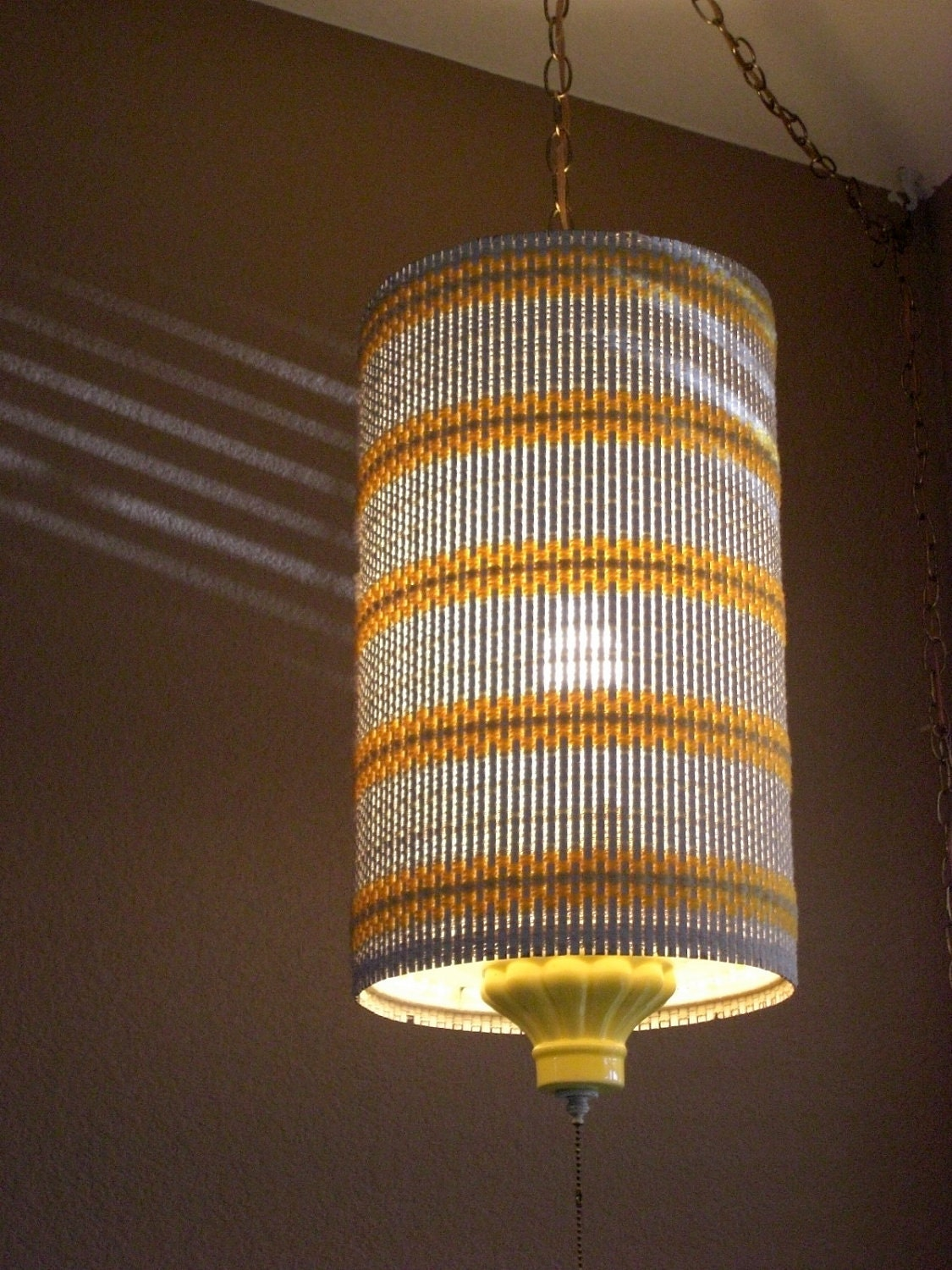Vintage 60 S Swag Hanging Pendant Lamp Retro By
