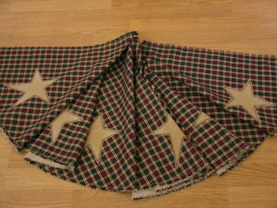 Primitive Stars Country Plaid HS Ragged Christmas By