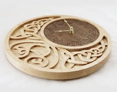 Clock Celtic Moon Personalized