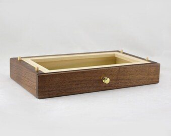Modular Jewelry Box System - Walnut Standard Drawer